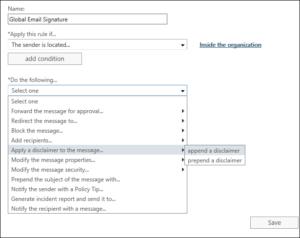 Exchange Server 2019 - Apply Disclaimer
