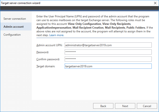 Exchange 2019 migration