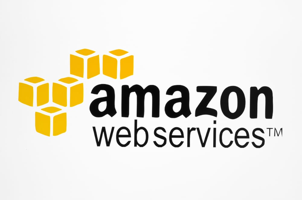 Amazon logotype on pc screen. Amazon is an American company, the world's largest sales goods and services through the Internet