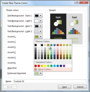 Outlook Select Background Color