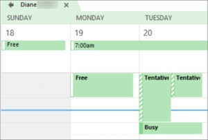 Outlook Can View When Im Busy Permission