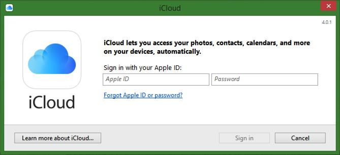 iCloud on Windows 10